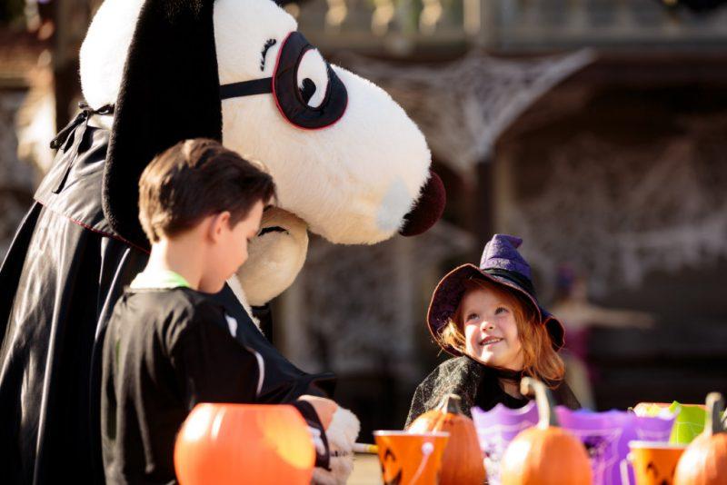 """Snoopy in besonderer Verkleidung im """"Camp Spooky"""" © Canadas Wonderland"""