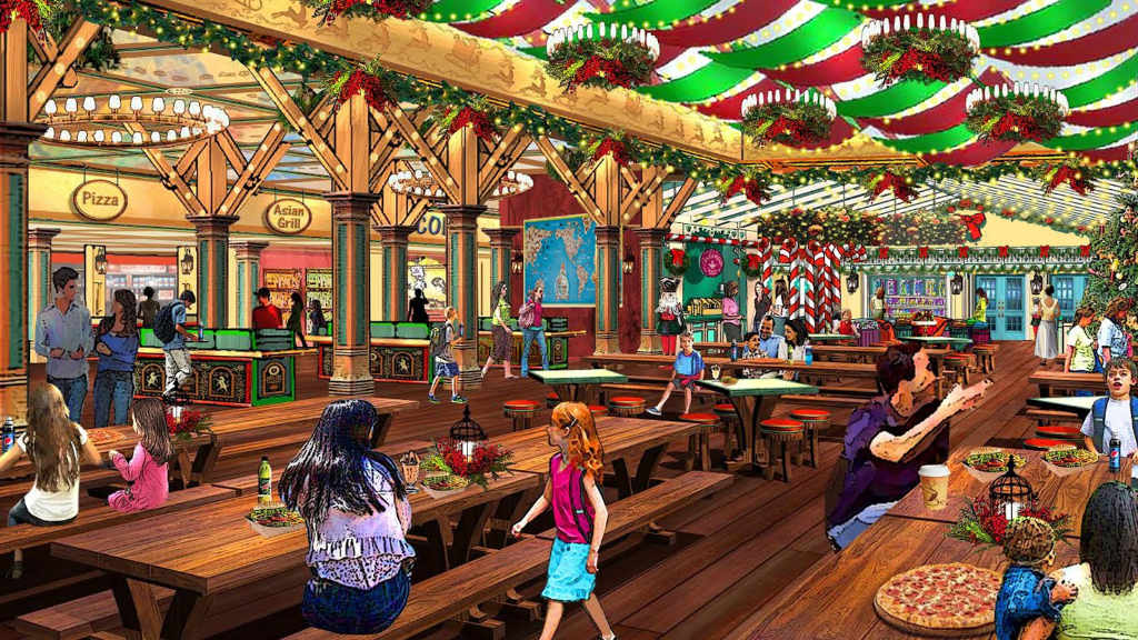 Holiday Workd Santas Merry Marketplace Concept