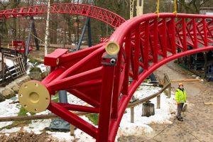 Freizeitpark Plohn Bau Dynamite Schiene