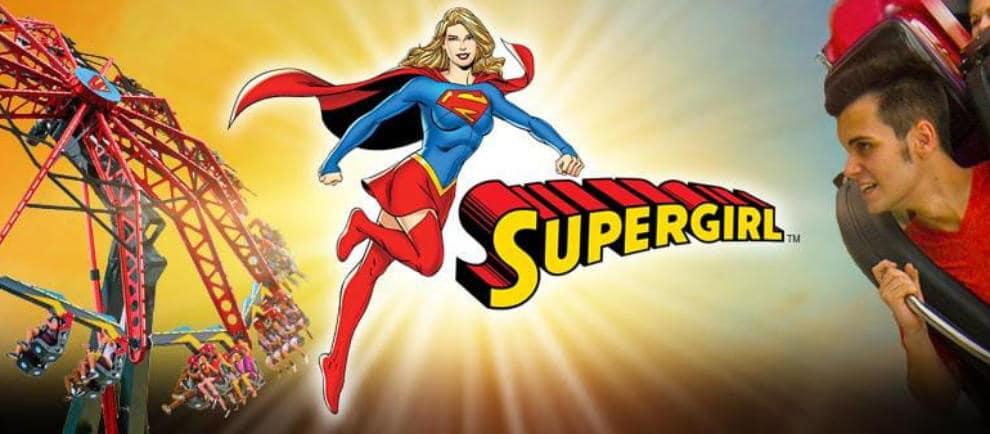 Six Flags St Louis Supergirl Konzept