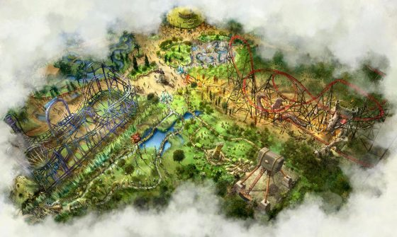 """So wird der neue Themenbereich """"Land of Legends"""" später aussehen. © Bobbejaanland"""