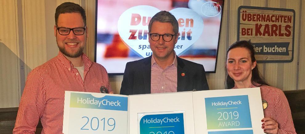 Karls HolidayCheck Award 2019 Alles Paletti