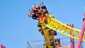 """""""Volcano: The Blast Coaster"""" war durchaus einzigartig © Kings Dominion"""