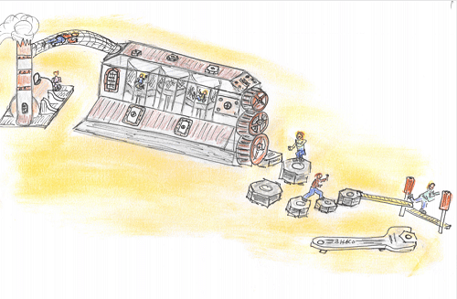 """Ein großer Spielbereich mit der Thematik """"Fabrik"""", kommt in den Wild- und Freizeitpark Klotten. © Wild- und Freizeitpark Klotten"""