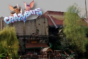 "Die ""Crazy Bats"" ziehen im ""Temple of the Nighthawk"" im Phantasialand ein © ThemePark-Central.de / MackMedia"