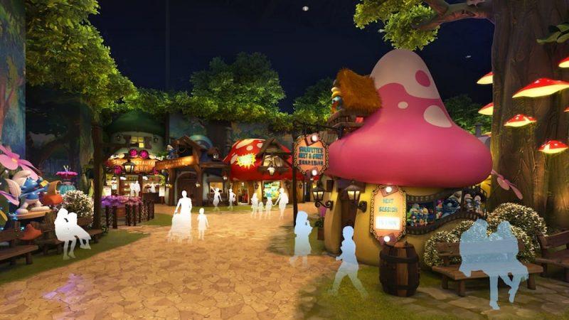 So soll das Dorf der Schlümpfe aussehen. © KCC Entertainment Design
