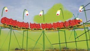 Animation Erdbeer-Raupenbahn in Karls Erlebnis-Dorf Rövershagen © Karls Erlebnis-Dorf