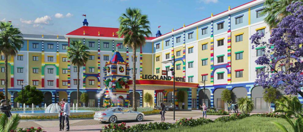 So soll das Legoland Hotel fertig aussehen © Legoland Dubai