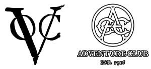 Links: Logo der Dutch East India Company / Rechts: Logo vom Adventure Club of Europe