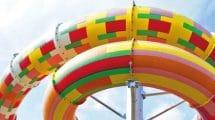 """Farbenfroh und schnell, dass ist die """"Typhoon Rutsche"""" im Miramar Freizeitbad."""