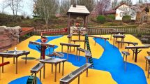 Plantschen und Spaß haben! Der Wasserspielplatz im Schwaben Park © Schwaben Park
