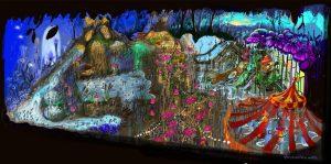 Einen Eindruck des neuen Schwimmbades Plopsaqua Landen-Hannuit, bietet diese Konzeptzeichnung © Plopsa