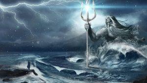 Poseidon mit seinem Dreizack © Sea World Australia