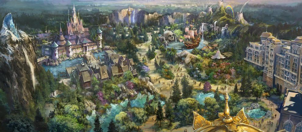 "So soll ""Fantasy Springs"" später aussehen © Tokyo DisneySea"