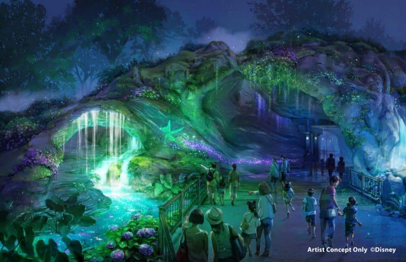 Tokyo DisneySea Fantasy Springs Artwork Eingang Links Nacht