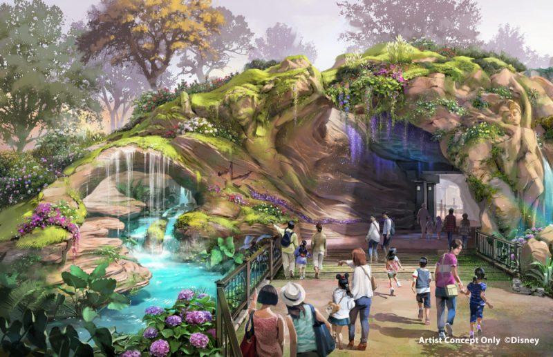 Tokyo DisneySea Fantasy Springs Artwork Eingang Links Tag