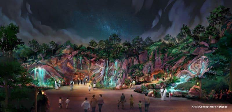 Tokyo DisneySea Fantasy Springs Artwork Eingang Nacht
