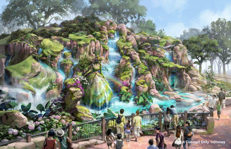 Tokyo DisneySea Fantasy Springs Artwork Eingang Rechts Tag
