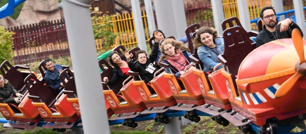 """""""Fun Pilot"""" die Familienachterbahn © Walibi Belgium"""
