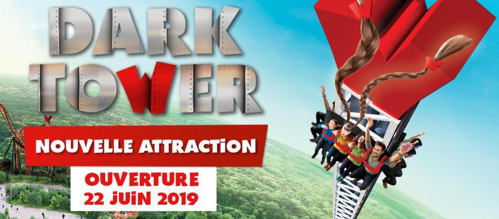 """""""Dark Tower"""" bietet mit Sicherheit eine Fahrt voller Adrenalin © Walibi Sud-Ouest"""