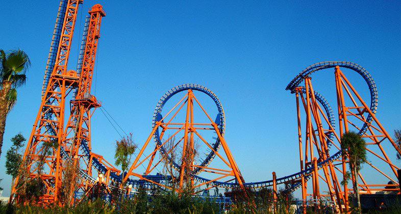Parque Warner Stunt Fall