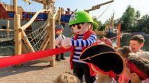 Maskottchen Pirat Rico eröffnet die neue Piratenwelt im PLAYMOBIL-FunPark © Playmobil