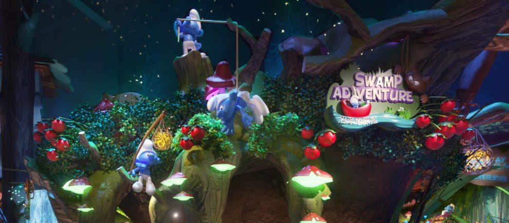 """Hier beginnt das Schlümpfe Abenteuer im """"Swamp Adventure"""" © Lagotronics Projects"""