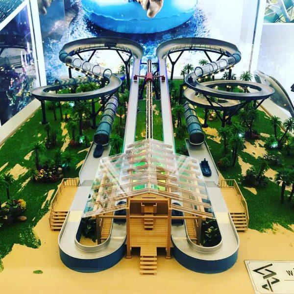 """Das präsentierte """"Slide Coaster"""" Modell auf der IAAPA Expo Asia 2019 © wiegand.waterrides"""