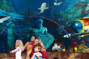 Einmal die versinkende Stadt Atlantis besuchen? Dies ist im Legoland Deutschland möglich! © Legoland Deutschland Resort