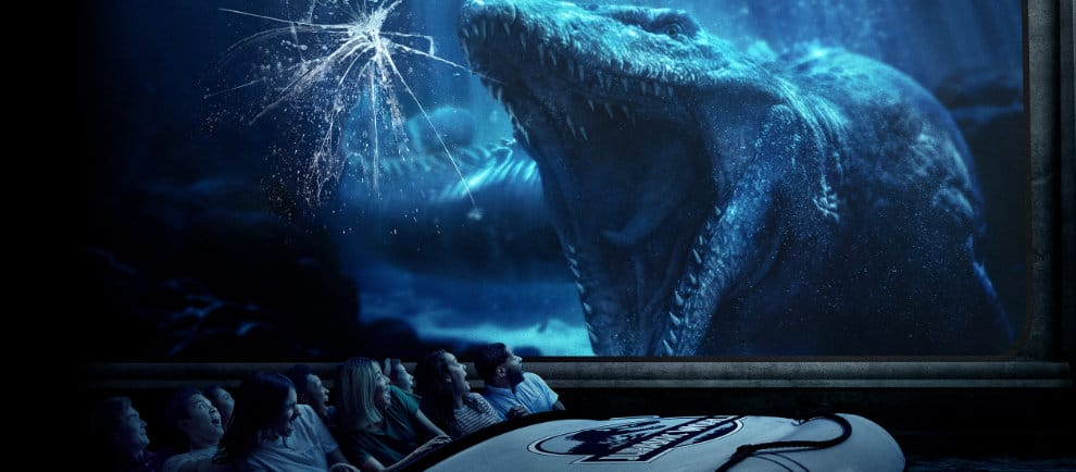 """Der Mosasaurus erwartet die Besucher von """"Jurassic World"""" © Universal Studios Hollywood"""