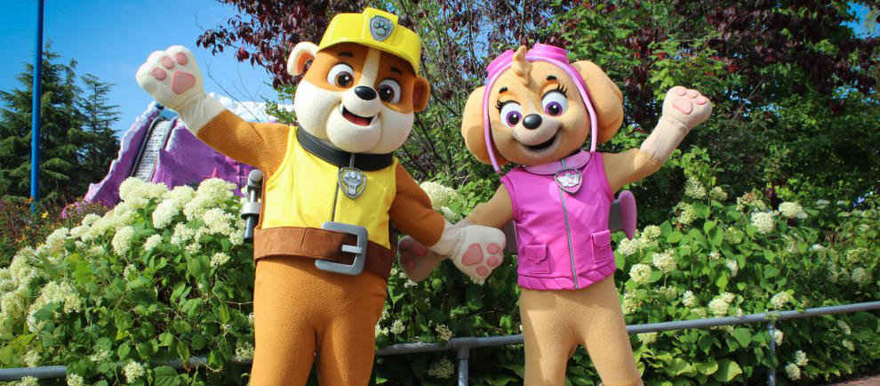 Skye and Rubble verstärken Paw Patrol Familie © Movie Park Germany