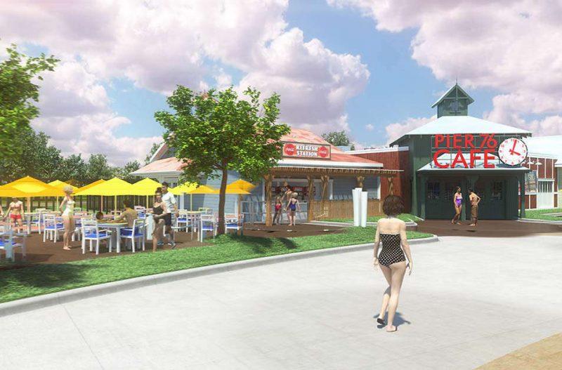 """Klassisch kalifornisch ist das neue Café """"Pier 76 Café"""" gehalten."""