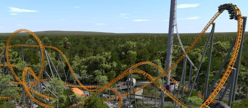 Dreamworld eröffnet in der kommenden Saison einen neuen Multi-Launch Coaster von Mack Rides © Dreamworld