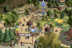 Ein sehr naturbelassener Themenbereich wird Camp Snoopy. Im ganzen Bereich wird es fünf neue Attraktionen geben, sowie zahlreiche Möglichkeiten die Snoopy Helden zu treffen