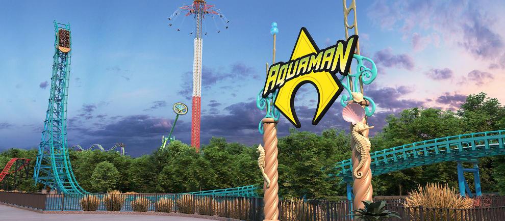 """Aquaman: Power Wave"" spiegelt den DC Helden sehr gut wieder! © Six Flags Over Texas"