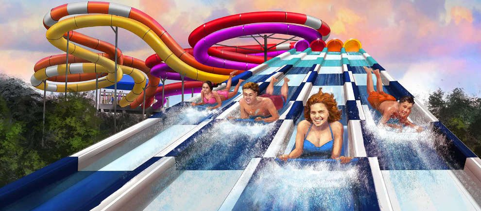 """RipTide Racer"" in Oceans of Fun © Worlds of Fun"