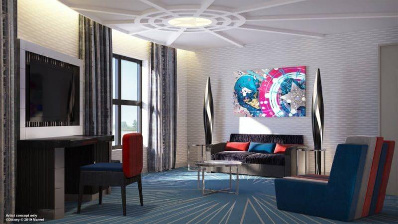 Disneys Hotel New York Avengers Suite Living