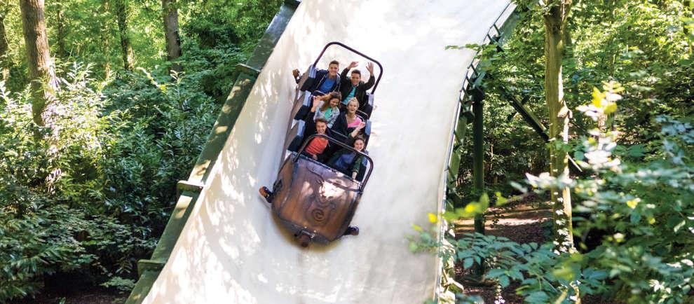 Die Schlitten der Bobbahn erreichten bis zu 60 Stundenkilometer © Efteling