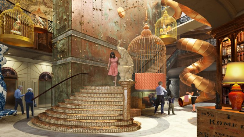 Bereits die Lobby erhält viele verspielte Elemente © Liseberg