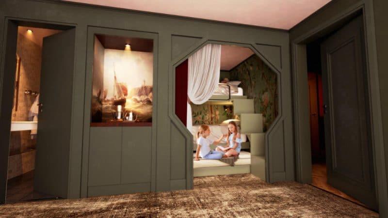 So soll ein Zimmer im neuen Liseberg Hotel aussehen © Liseberg