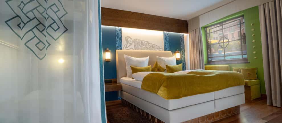 Neue toll gestaltete Zimmer erwarten die Besucher im Hotel Ling Bao des Phantasialands