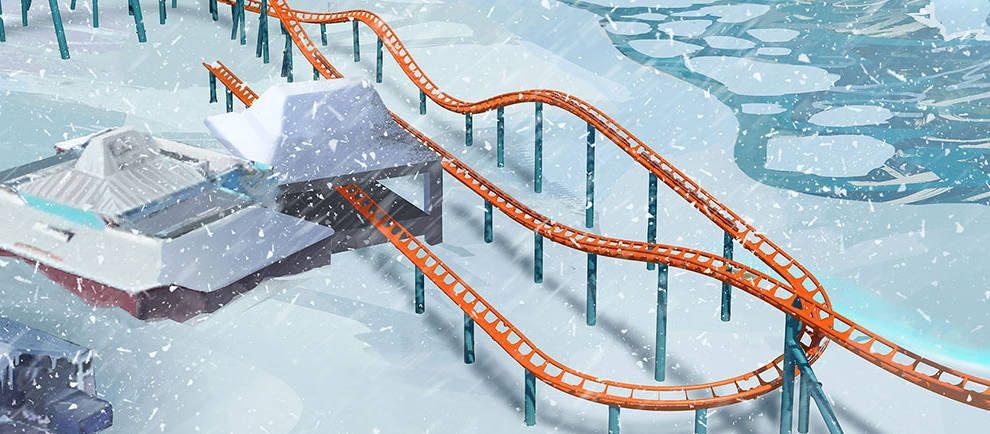"""Ice Breaker"" die Neuheit 2020 in SeaWorld Orlando © SeaWorld Orlando"