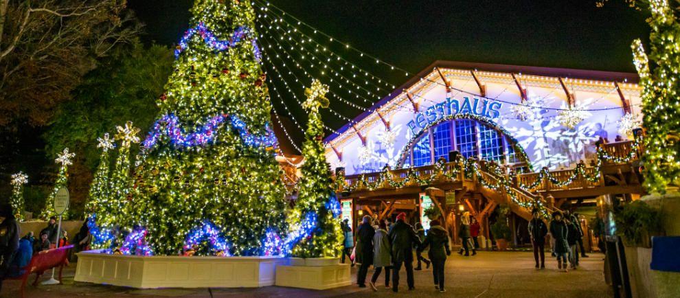 """Winterlich wird es während """"Christmas Town"""" © Busch Gardens Williamsburg"""