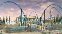 """So soll der Eingang der Vekoma Achterbahn """"Abyssus"""" in Energylandia aussehen © pawel98123"""
