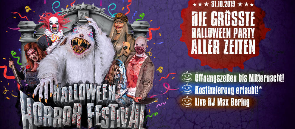 Werdet Teil der größten Halloween Party allerbesten im Bottrop Filmpark! © Movie Park Germany