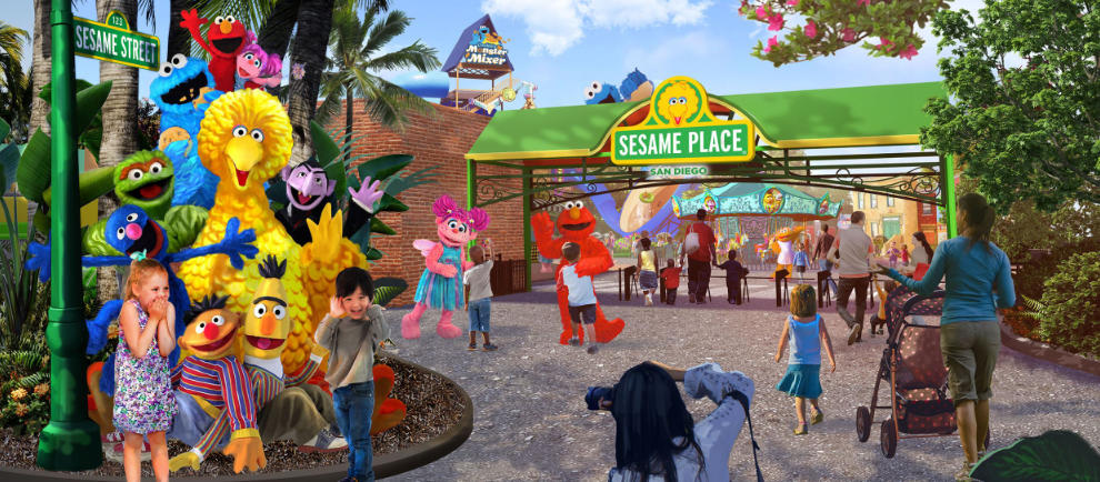 Hier wird der Spaß in Sesame Place San Diego beginnen © SeaWorld Entertainment