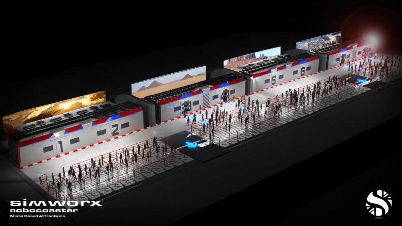 """So stellt sich Simworx """"Metro of Time"""" mit mehreren Simulatoren vor © Simworx"""