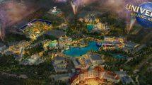 2021 wird der Themenpark eröffnen © Universal Studios Beijing