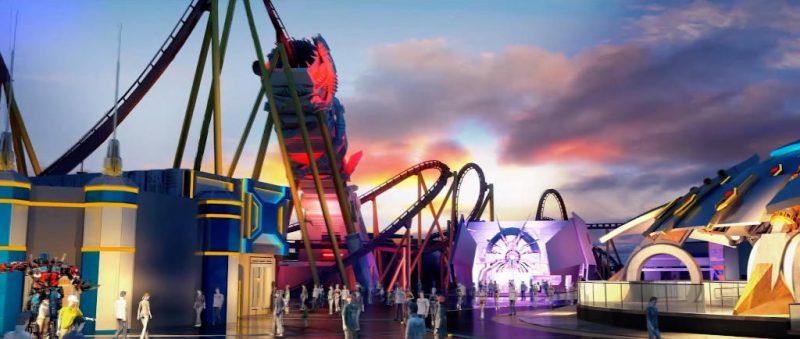 """Die größte Achterbahn befindet sich im Themenbereich """"Transformer: Metrobase"""" © Universal Studios Beijing"""
