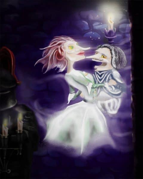 Lustige Geister erwarten die Besucher in ihrer Burg © Lagotronics Projects
